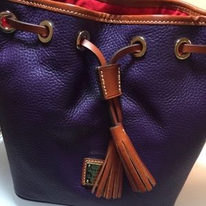 Dooney and Bourke purple drawstring bag